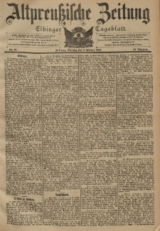 Altpreussische Zeitung, Nr. 29 Dienstag 4 Februar 1902, 54. Jahrgang