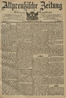 Altpreussische Zeitung, Nr. 30 Mittwoch 5 Februar 1902, 54. Jahrgang
