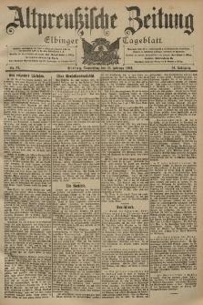 Altpreussische Zeitung, Nr. 37 Donnerstag 13 Februar 1902, 54. Jahrgang