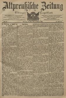 Altpreussische Zeitung, Nr. 41 Dienstag 18 Februar 1902, 54. Jahrgang