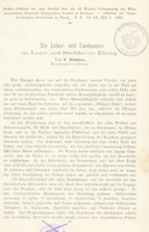 Die Leber- und Laubmoose im Land- und Stadtkreise Elbing