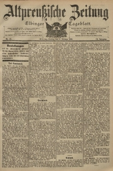 Altpreussische Zeitung, Nr. 44 Freitag 21 Februar 1902, 54. Jahrgang