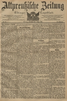 Altpreussische Zeitung, Nr. 54 Mittwoch 5 März 1902, 54. Jahrgang