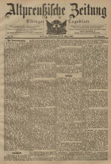 Altpreussische Zeitung, Nr. 73 Donnerstag 27 März 1902, 54. Jahrgang