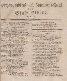 Kirchenzettel der Stadt Elbing, Nr. 2, 7 Januar 1827