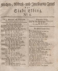 Kirchenzettel der Stadt Elbing, Nr. 4, 21 Januar 1827
