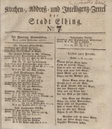 Kirchenzettel der Stadt Elbing, Nr. 7, 11 Februar 1827