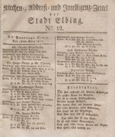Kirchenzettel der Stadt Elbing, Nr. 12, 13 März 1827