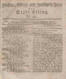 Kirchenzettel der Stadt Elbing, Nr. 20, 6 Mai 1827
