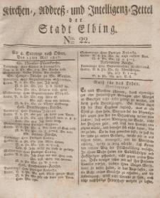 Kirchenzettel der Stadt Elbing, Nr. 22, 13 Mai 1827