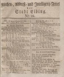Kirchenzettel der Stadt Elbing, Nr. 24, 24 Mai 1827