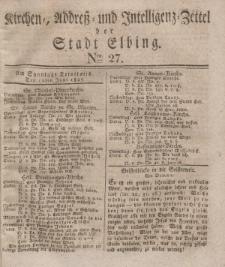 Kirchenzettel der Stadt Elbing, Nr. 27, 10 Juni 1827