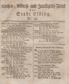 Kirchenzettel der Stadt Elbing, Nr. 36, 12 August 1827