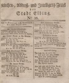 Kirchenzettel der Stadt Elbing, Nr. 38, 26 August 1827