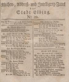 Kirchenzettel der Stadt Elbing, Nr. 39, 2 September 1827