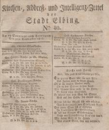Kirchenzettel der Stadt Elbing, Nr. 40, 9 September 1827