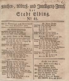 Kirchenzettel der Stadt Elbing, Nr. 41, 16 September 1827