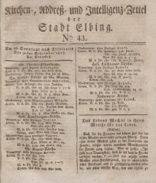 Kirchenzettel der Stadt Elbing, Nr. 43, 30 September 1827