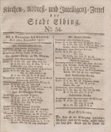 Kirchenzettel der Stadt Elbing, Nr. 54, 16 Dezember 1827