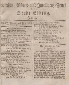 Kirchenzettel der Stadt Elbing, Nr. 5, 27 Januar 1828