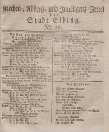 Kirchenzettel der Stadt Elbing, Nr. 19, 30 April 1828