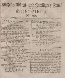 Kirchenzettel der Stadt Elbing, Nr. 22, 15 Mai 1828