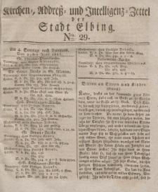 Kirchenzettel der Stadt Elbing, Nr. 29, 29 Juni 1828