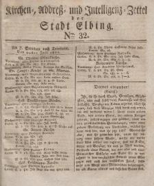 Kirchenzettel der Stadt Elbing, Nr. 32, 20 Juli 1828