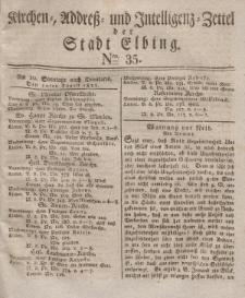 Kirchenzettel der Stadt Elbing, Nr. 35, 10 August 1828