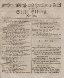 Kirchenzettel der Stadt Elbing, Nr. 38, 31 August 1828
