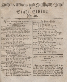 Kirchenzettel der Stadt Elbing, Nr. 40, 14 September 1828
