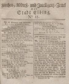 Kirchenzettel der Stadt Elbing, Nr. 41, 21 September 1828