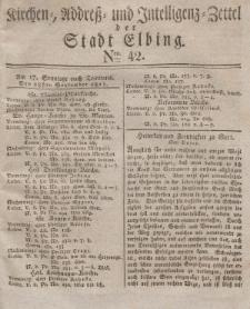 Kirchenzettel der Stadt Elbing, Nr. 42, 28 September 1828