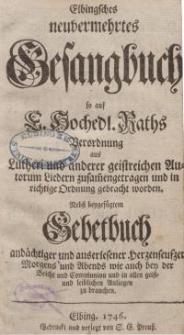 Elbingsches neuvermehrtes Gesangbuch...