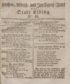 Kirchenzettel der Stadt Elbing, Nr. 48, 9 November 1828