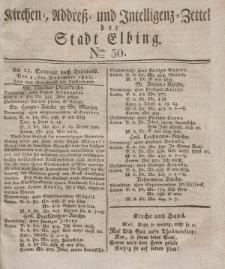 Kirchenzettel der Stadt Elbing, Nr. 50, 23 November 1828