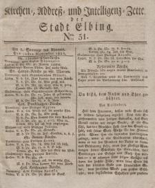 Kirchenzettel der Stadt Elbing, Nr. 51, 30 November 1828