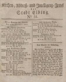 Kirchenzettel der Stadt Elbing, Nr. 54, 21 Dezember 1828