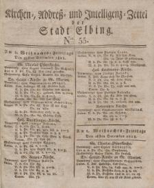 Kirchenzettel der Stadt Elbing, Nr. 55, 25 Dezember 1828