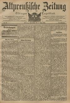 Altpreussische Zeitung, Nr. 83 Donnerstag 10 April 1902, 54. Jahrgang