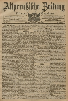 Altpreussische Zeitung, Nr. 84 Freitag 11 April 1902, 54. Jahrgang