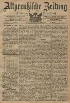 Altpreussische Zeitung, Nr. 87 Dienstag 15 April 1902, 54. Jahrgang
