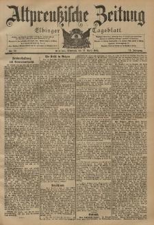 Altpreussische Zeitung, Nr. 88 Mittwoch 16 April 1902, 54. Jahrgang