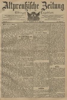Altpreussische Zeitung, Nr. 89 Donnerstag 17 April 1902, 54. Jahrgang