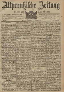 Altpreussische Zeitung, Nr. 95 Donnerstag 24 April 1902, 54. Jahrgang