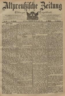 Altpreussische Zeitung, Nr. 97 Sonnabend 26 April 1902, 54. Jahrgang