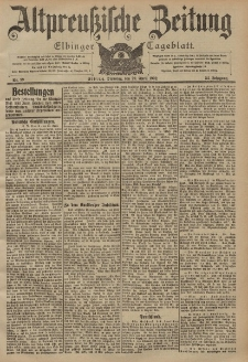 Altpreussische Zeitung, Nr. 99 Dienstag 29 April 1902, 54. Jahrgang