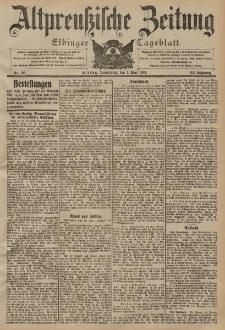 Altpreussische Zeitung, Nr. 101 Donnerstag 1 Mai 1902, 54. Jahrgang