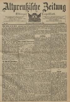 Altpreussische Zeitung, Nr. 113 Freitag 16 Mai 1902, 54. Jahrgang