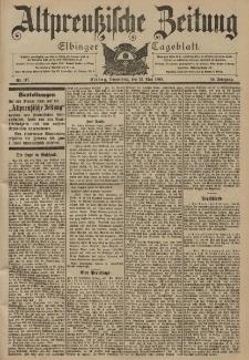 Altpreussische Zeitung, Nr. 117 Donnerstag 22 Mai 1902, 54. Jahrgang
